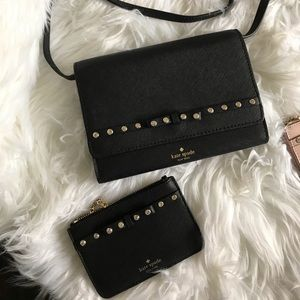 Sale❗️Kate spade laurel jeweled Crossbody wallet